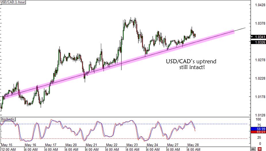 USD/CAD Uptrend