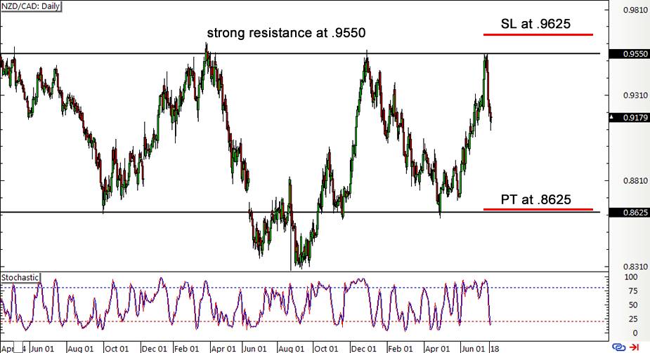 NZD/CAD Daily Forex Chart
