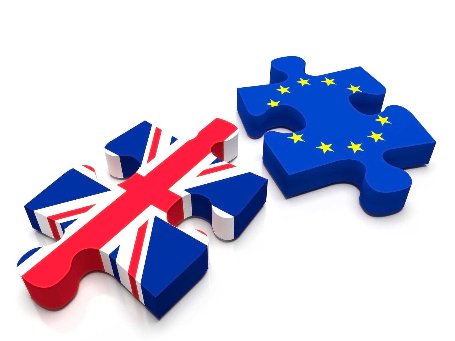 Jigsaw puzzle European Union (EU) vs United Kingdom (UK)