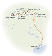 Dolomites Italy Map