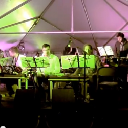 still from a video of a performance.  fields festival, august 2014.