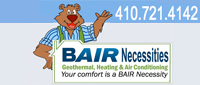 Website for BAIR Necessities, LLC