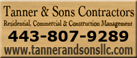 Website for Tanner & Sons Contractors