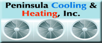 Website for Peninsula Cooling & Heating, LLC