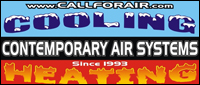 Website for Contemporary Air Systems, Inc.