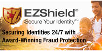 Website for EZShield Fraud Protection