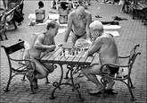 Szechenyi Bath Chess Players by Jack Knox
