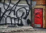 Graffiti with red door