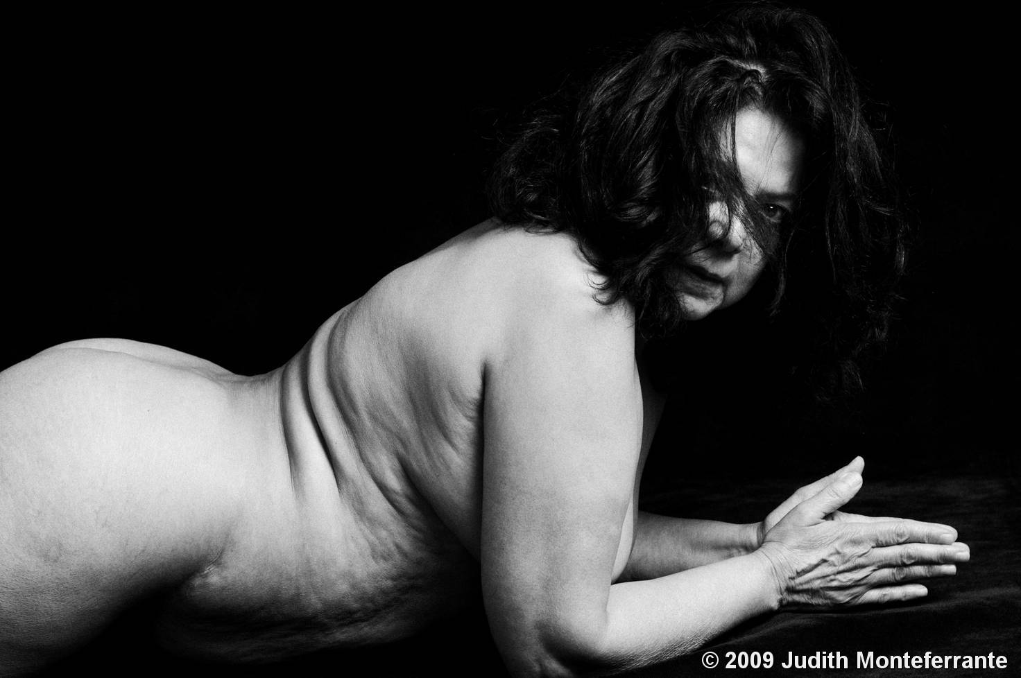 Classical Nude Triptyc by Judith Monteferrante :: Black ...