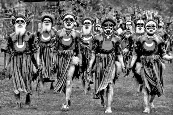 Papua marchers in parade