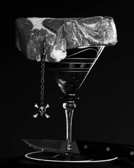Martini and steak
