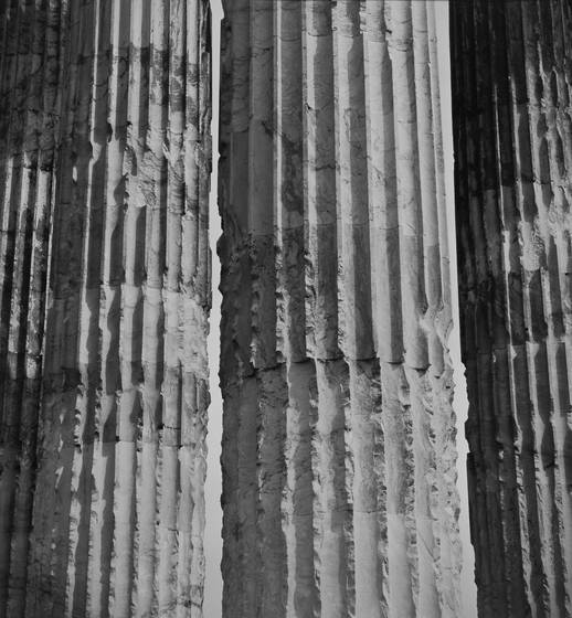 Fluted columns of the temple of olympian zeus