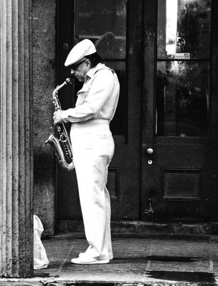 Street sax player