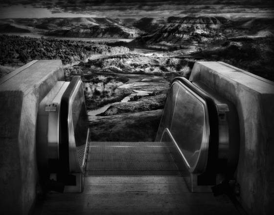Abandoned escalator