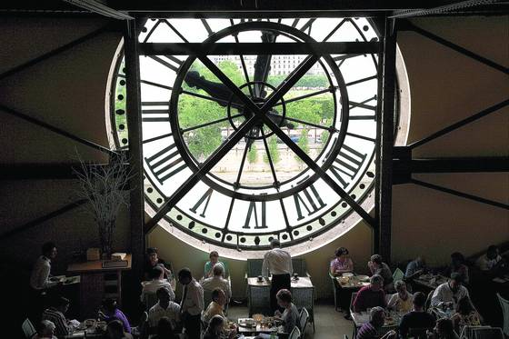 Lunch under the clock
