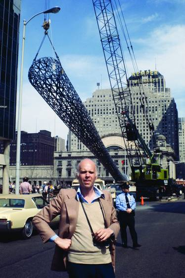 Claes oldenburg at his batcolumn