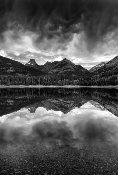 Mountain storm reflections