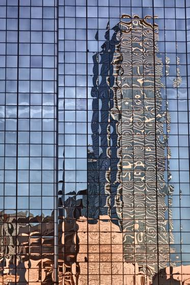 Dallas skyline reflection v