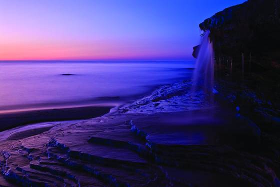 Twilight_waterfall