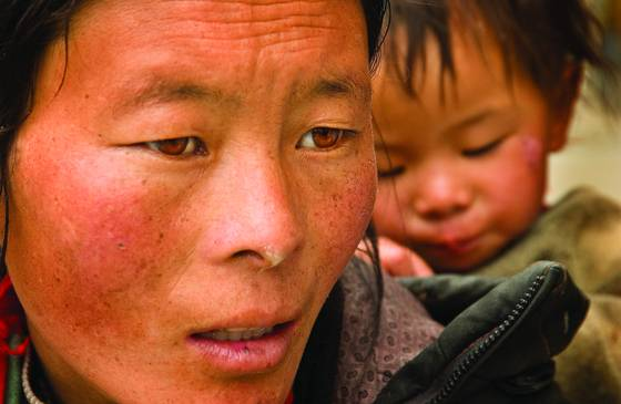 Migrant mother tibet