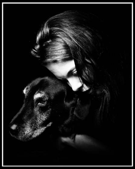 A girl s love for her dog