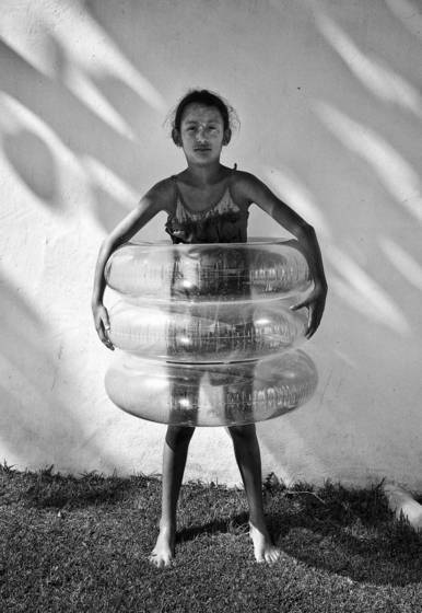 Girl with tubes