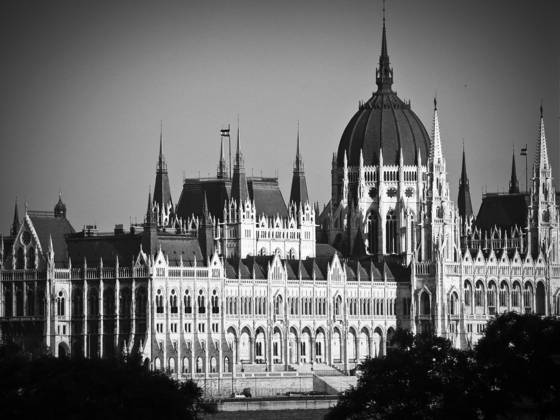 Hungarian paliament at sunset