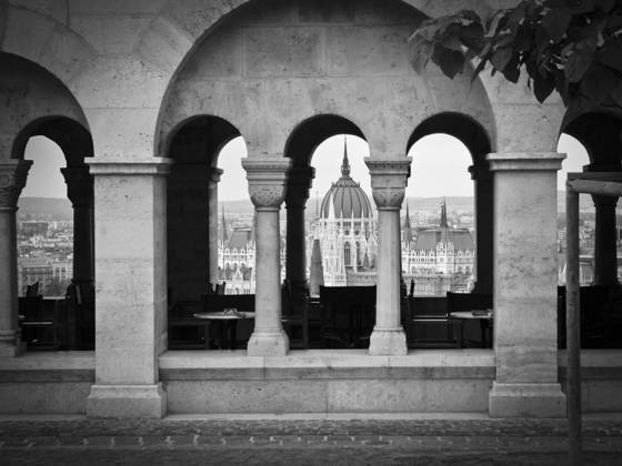 Hungarian paliament from fisherman s bastian