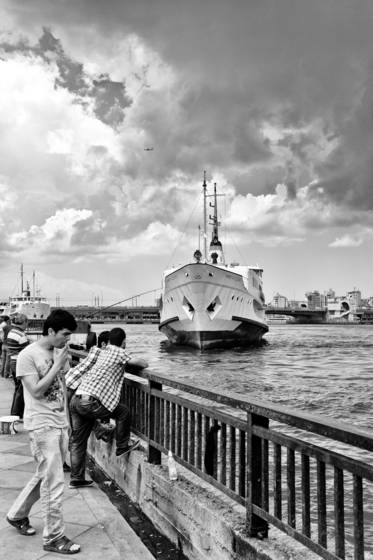 The_approaching_ship-istanbul_turkey-2012