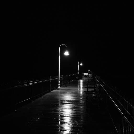 Pier in the dark