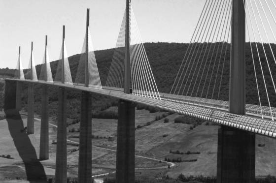 Norman foster s bridge near millau