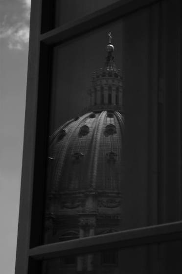 Vatican dome reflection