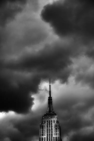 Empire state building and clearing storm