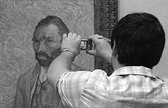 Man and painting