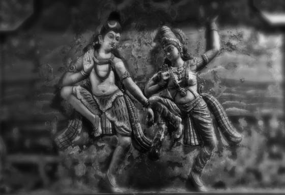 Dancing siva and parvati
