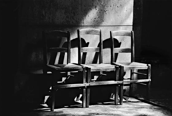 Chairs and shadows  paris  1998