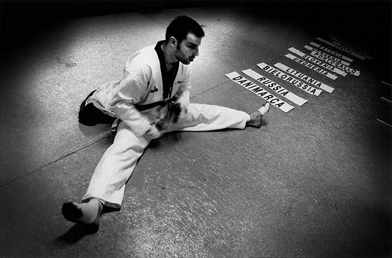 Taekwondo_athlete_trainig