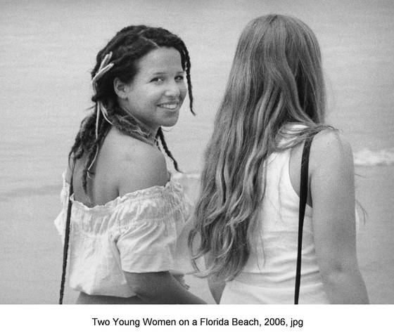 Two girls on florida beach