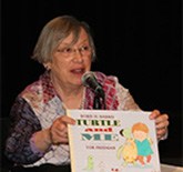 "Robie speaks about Turtle and Me at Bank Street's ""Building Blocks of Play"" conference."