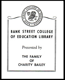 Bookplate from the Charity Bailey Collection