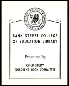 Original bookplate from the Children's Book Committee Collection