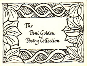 Book plate of the Peni Golden Poetry Collection