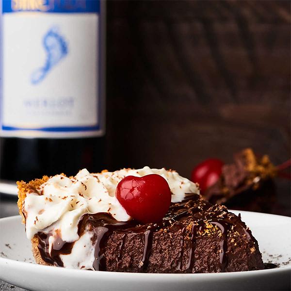 Berfoot Merlot chocolate tart
