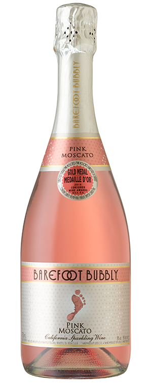 Bubbly Pink Moscato Wine