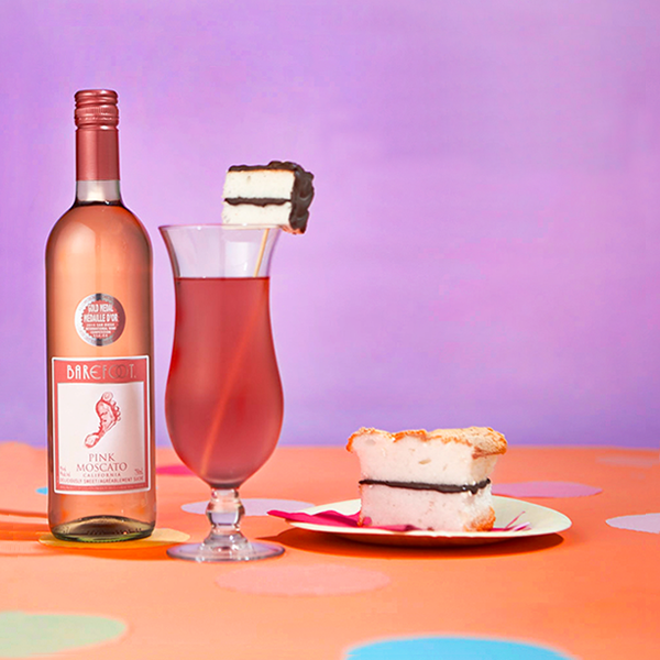 Pink Moscato Cake Break Cocktail