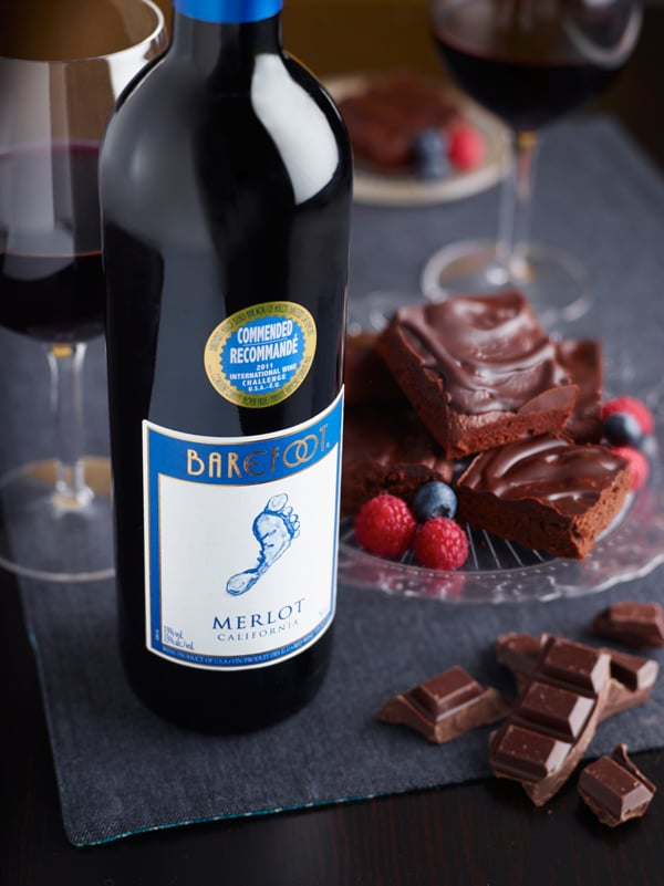 Photo of Czekoladowe Brownie z Barefoot Merlot