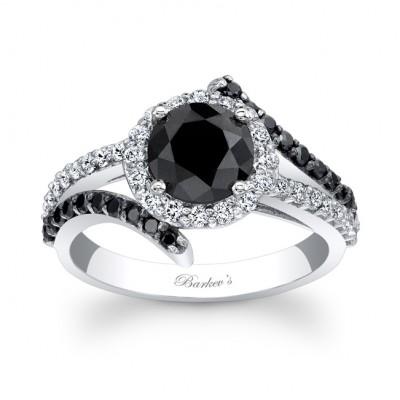 Black Diamond Engagement Ring - BC-7857LBKW