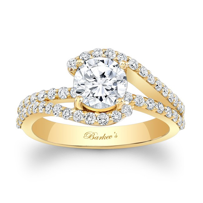 Barkevs Yellow Gold Engagement Ring 7848LYW