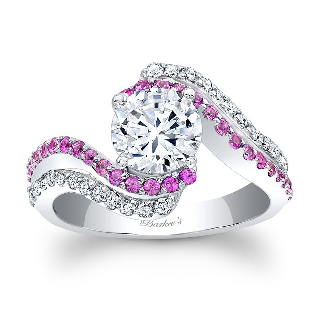 barkev s pink sapphire engagement ring 7912lpsw