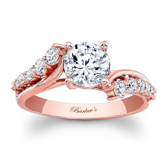 Barkevs Rose Gold Engagement Ring 7926LPW